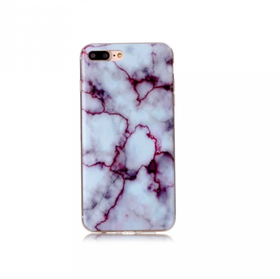 Iphone 5C  - Marble - Marmor Case- LjusBlå / Lila - Mjukt
