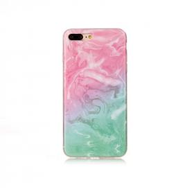 Iphone 5C  - Marble - Marmor Case- Rosa/Grön - Mjukt