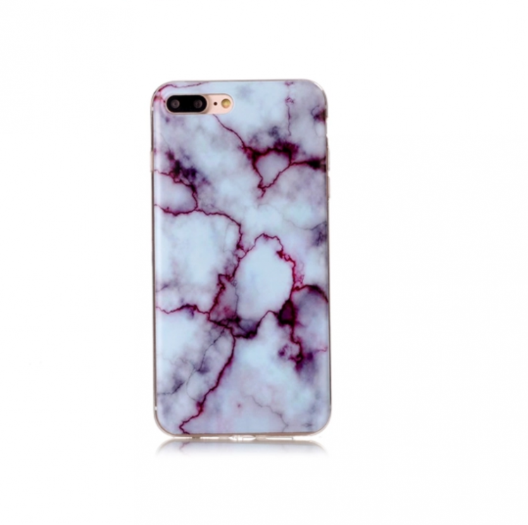 Iphone 7/8  - Marble - Marmor Case- Ljusblå/Lila - Mjukt