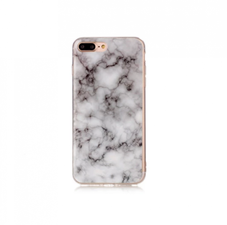 Iphone 7/8  - Marble - Marmor Case- Grå - Mjukt