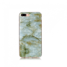 Iphone 7/8  - Marble - Marmor Case- Grön - Mjukt