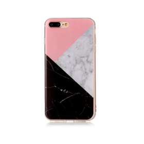 Iphone 7/8  - Marble - Marmor Case- Trekant - Mjukt