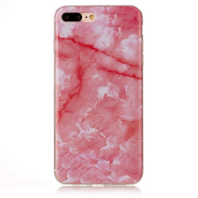 Iphone 6/6S  - Marble - Marmor Case- Rosa - Mjukt
