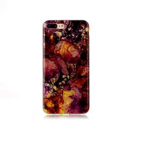 Iphone 6/6S  - Marble - Marmor Case- RödBrun - Mjukt