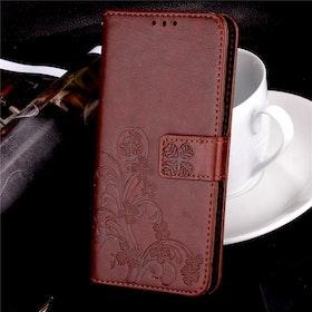 Samsung Galaxy S8 Plånboksfodral - Mönster - Brun