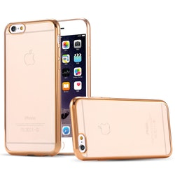 Iphone 7/8 skal - Guld i Kanterna - Transparant - Lyx
