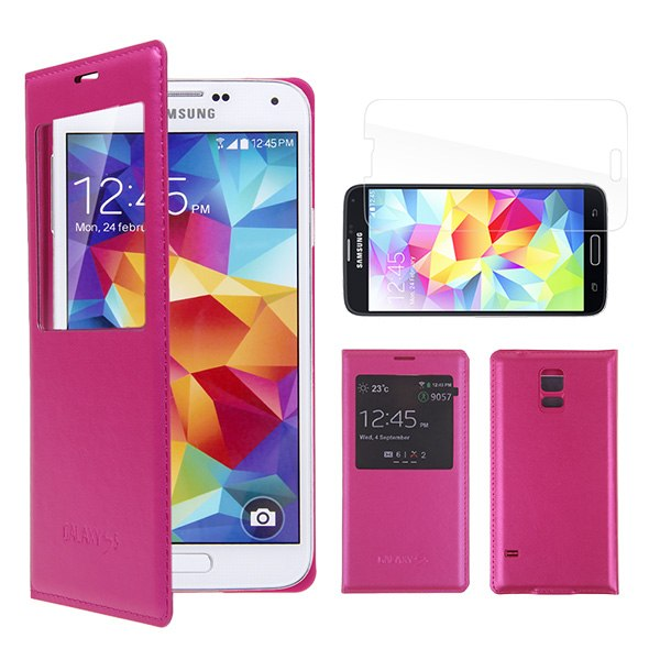 Samsung Galaxy S5 - Window View Cover - ROSA