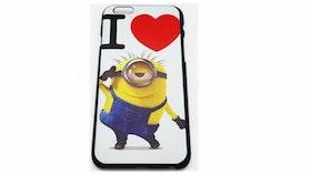 Iphone 6/6S Skal - Minion - Hjärta - Färgglad