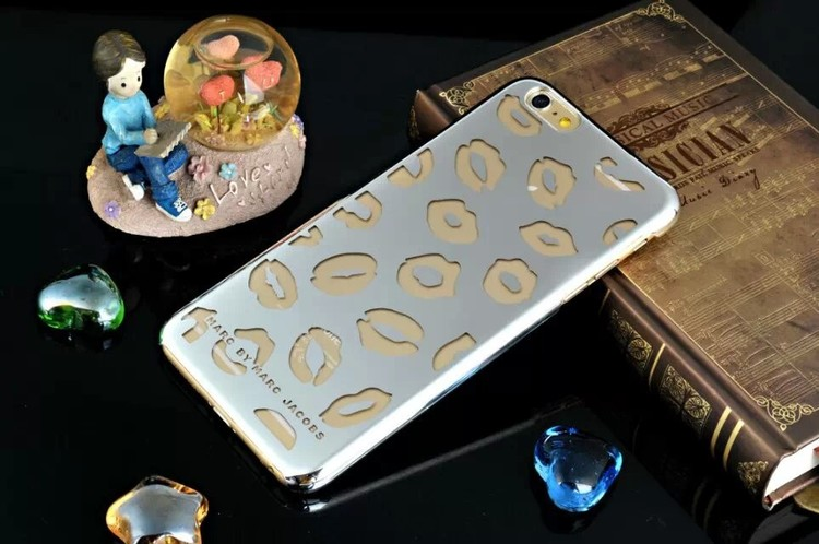 Iphone 6/6S Skal - Pussmun - Silver - Lyx