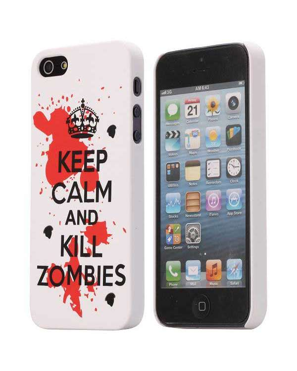 Iphone 5/5S - Keep Calm And kill Zoombies - Vit