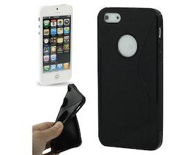 Iphone 5/5S - Bra Grepp - Mjukt -Line Edition- TPU - Svart