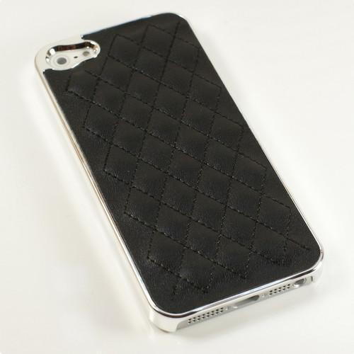 Iphone 5/5S Skal -Quiltad - Silver / Svart