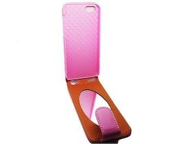 Iphone 5/5S - Flipfodral Med Spegel - Rosa