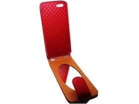 Iphone 5/5S - Flipfodral Med Spegel - Röd