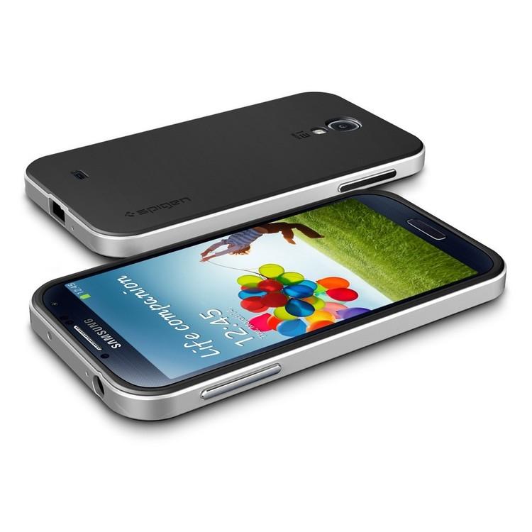Samsung Galaxy S4 Skal - Hybrid - Extra Stryktåligt - Svart/Silver