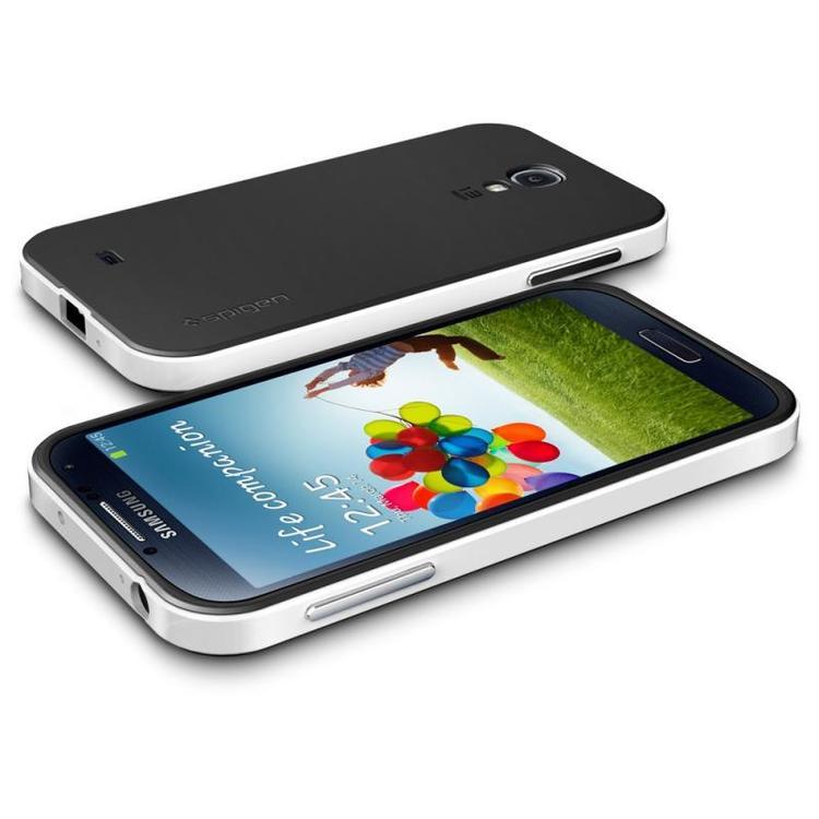 Samsung Galaxy S4 Skal - Hybrid - Extra Stryktåligt - Svart/Vit