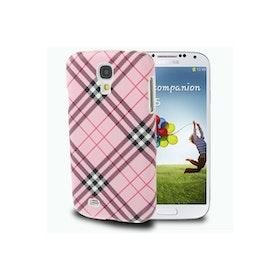 Samsung Galaxy S4 Skal - Rutig - Rosa