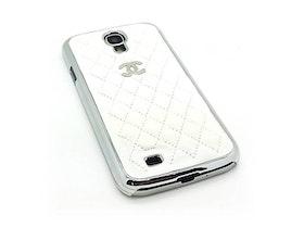 Samsung Galaxy S4 Skal -Vit Quiltad - Krom