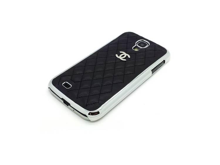 Samsung Galaxy S4 Skal -Svart Quiltad - Krom