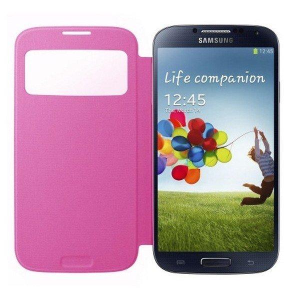 Samsung Galaxy S4 - Flipfodral - Window View - Rosa