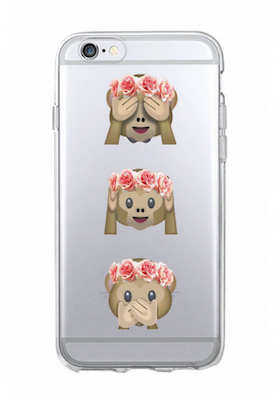 Iphone 7/8 Plus Skal - Emoji  -Tre Apor - Mjukt