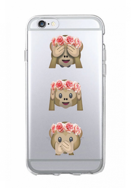 Iphone 6/6S Plus Skal  -Emoji - Tre Apor - Mjukt