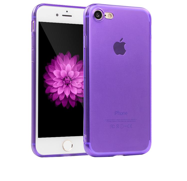 Iphone 7 8 Skal - TPU - Lila - Mjukt - billigamobilskal 428b8033b5e91