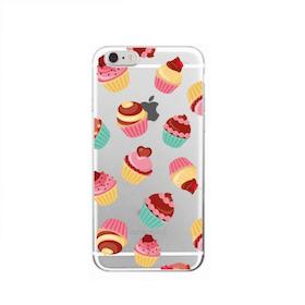 Iphone 6 / 6S Skal -Cupcakes - Färgglad - Mjukt