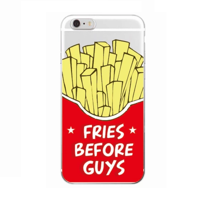 Iphone 6 / 6S Skal - *Fries Before Guys* - Mjukt