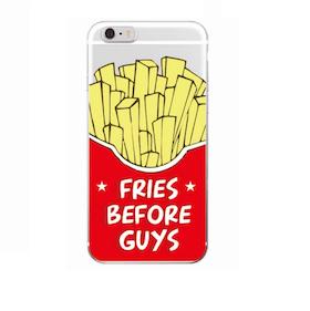 Iphone 6 / 6S Skal - *Fries Before Guys* - Mjukt