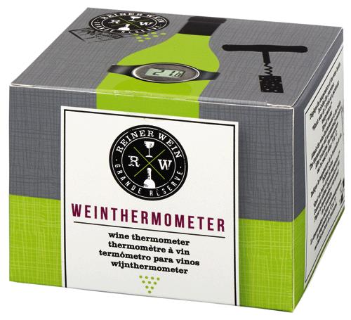 Vin termometer Svart