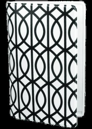 Grafisk båge vit