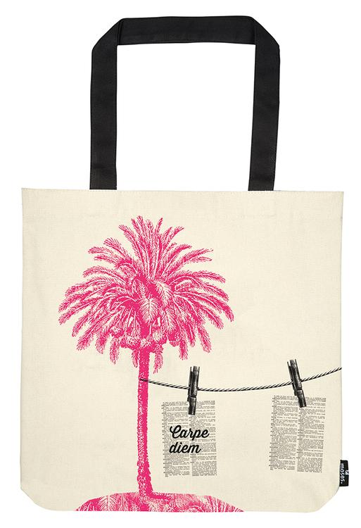 Tygkasse, Palm i rosa
