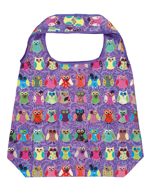 Shoppingbag, Ugglor i lila