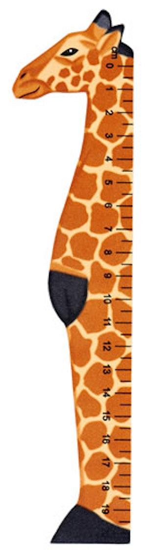 Bokmärke Linjal vilda djur Giraff