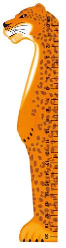 Bokmärke Linjal vilda djur Leopard