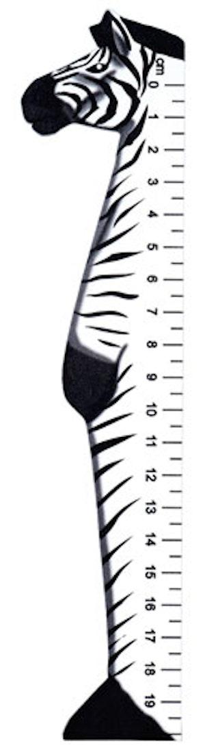 Bokmärke Linjal vilda djur Zebra