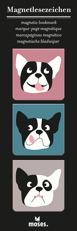 Magnetbokmärke, kvadrat, Hund