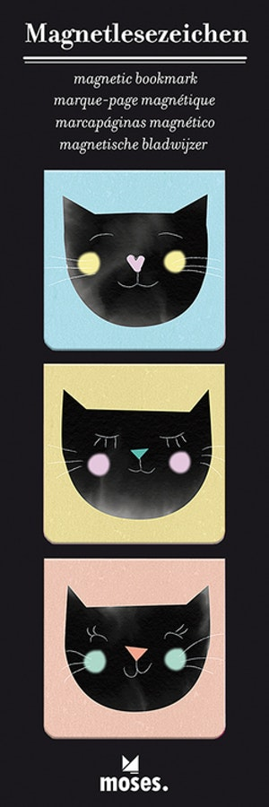 Magnetbokmärke, kvadrat, Katt