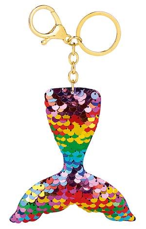 Nyckelring Glitterpaljetter multi