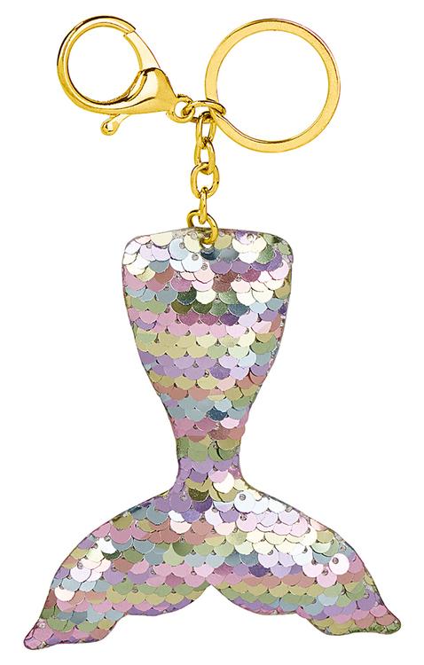 Nyckelring Glitterpaljett silver