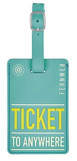 Bagagetag Ticket to Anywere