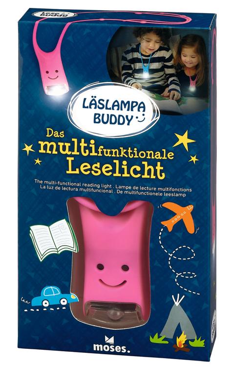 Läslampa Buddy rosa