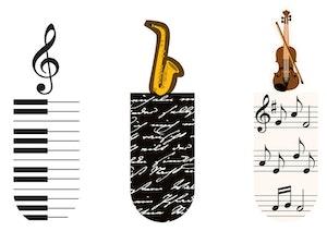 Magnetbokmärke Musik