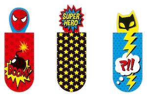 Magnetbokmärke Superhjälte
