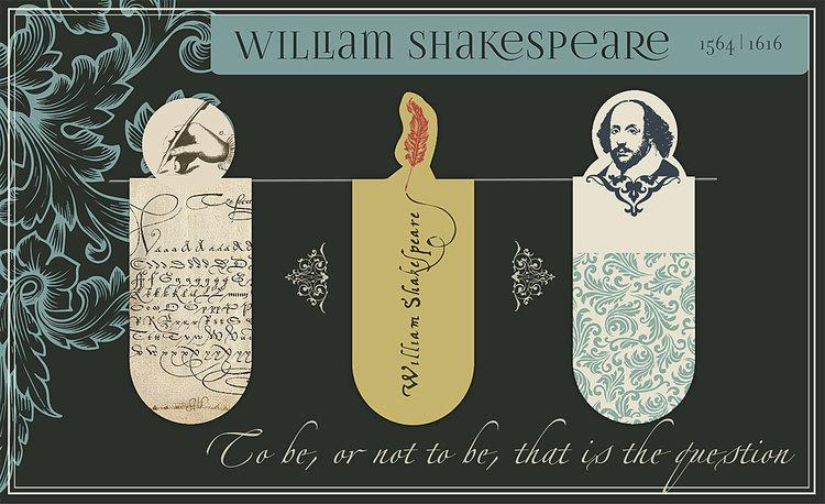 Magnetbokmärke Shakespeare