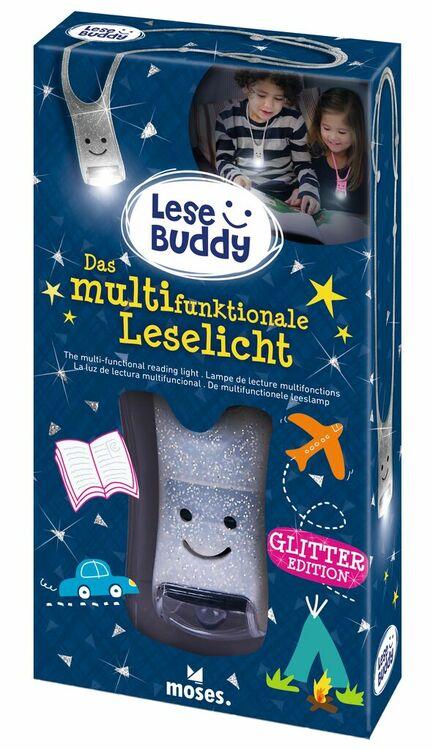 Läslampa Buddy silver glitter