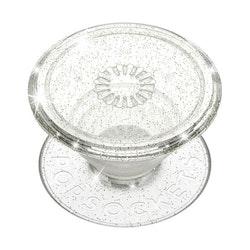 Clear Glitter Silver