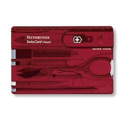 Victorinox SwissCard Classic rubinröd transparent