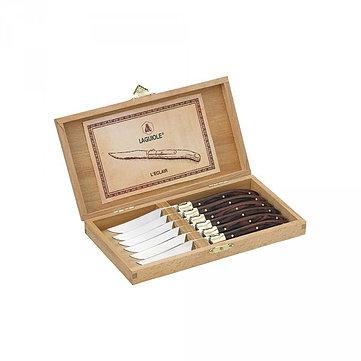 Laguiole Grillknivar 6-pack mässing/trä
